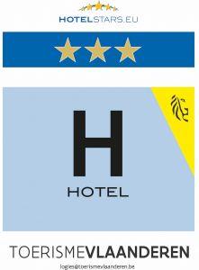 De Kalvaar • Hotel erkenningsschild 3 sterren