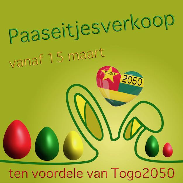 Vanaf 15 maart • paaseitjes verkoop tvv Togo2050 @ De Kalvaar